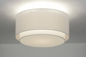 ceiling lamp 87177 rustic modern retro contemporary classical fabric white round