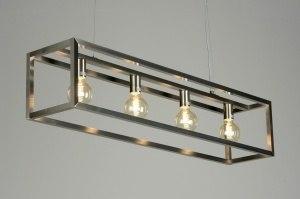 hanglamp 87313 sale modern design staalgrijs metaal staal rvs langwerpig rechthoekig