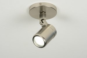 spotlight 87879 modern stainless steel metal round