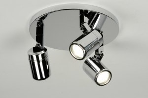 spotlight 87880 modern metal chrome round