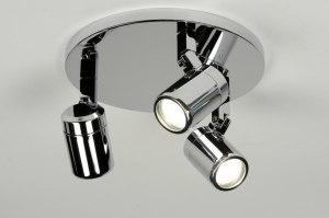 plafondlamp 87880 modern chroom metaal rond