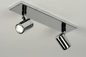 plafondlamp 87882 modern chroom metaal rond