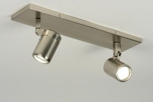 spotlight 87883 modern stainless steel metal round