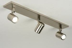 spotlight 87885 modern stainless steel metal oblong