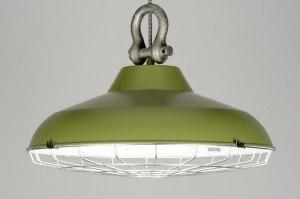 hanglamp 88180 sale industrie look landelijk rustiek modern retro eigentijds klassiek metaal groen rond