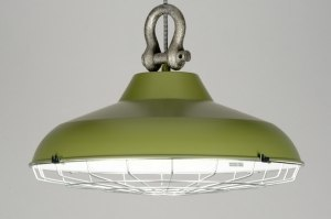 suspension 88180 soldes look industriel rural rustique moderne retro classique contemporain acier vert rond