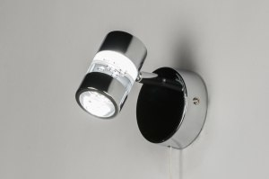spot 88215 design landelijk rustiek modern eigentijds klassiek metaal chroom rond