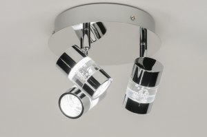 spotlight 88216 designer modern metal chrome round
