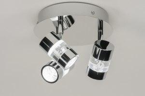spot 88216 design moderne acier chrome rond