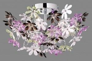 plafondlamp 88236 landelijk rustiek modern eigentijds klassiek kunststof meerkleurig rond