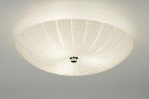 plafondlamp 88394 landelijk rustiek retro eigentijds klassiek glas rond