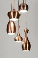 suspension 88585 soldes rural rustique moderne classique contemporain acier cuivre cuivre rouge rond