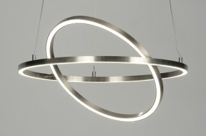 hanglamp 88734 design modern staal rvs metaal staalgrijs rond