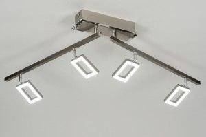 plafondlamp 88744 design modern staal rvs metaal langwerpig