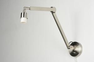 wandlamp 88799 modern staal rvs metaal langwerpig