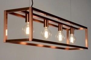 hanglamp 88905 design modern aluminium metaal koper roodkoper langwerpig