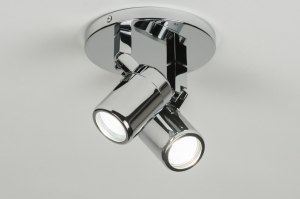 plafondlamp 89384 modern chroom metaal rond